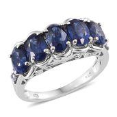 Masoala Sapphire, Tanzanite Platinum Over Sterling Silver Ring (Size 10.0) TGW 5.90 cts.