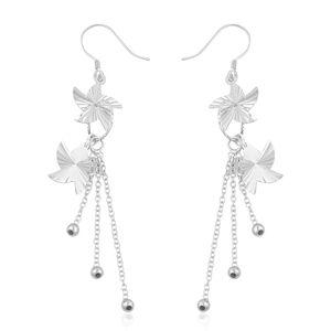 Sterling Silver Diamond Cut Pinwheel Drop Earrings (3 g)