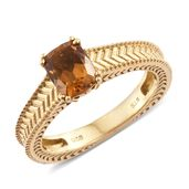 Karen's Fabulous Finds Santa Ana Madeira Citrine 14K YG Over Sterling Silver Ring (Size 5.0) TGW 1.40 cts.