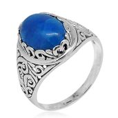 Bali Legacy Collection Blue Howlite Sterling Silver Ring (Size 7.0) TGW 5.51 cts.