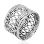 Bali Legacy Collection Sterling Silver Ring (Size 10.0)