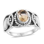 Artisan Crafted Brazilian Citrine Sterling Silver Ring (Size 6.0) TGW 1.15 cts.