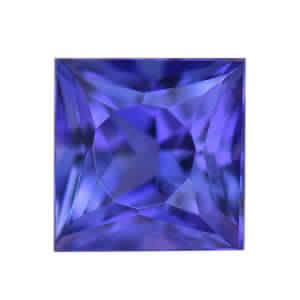 EXOTIC COLLECTION: Premium AAA Tanzanite (Sqr 5 mm) TGW 0.60 cts.