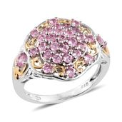 Mahenge Pink Spinel 14K YG and Platinum Over Sterling Silver Ring (Size 10.0) TGW 1.85 cts.