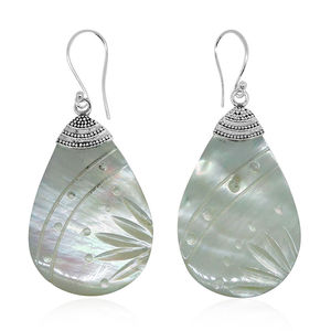 Bali Legacy Collection Shell Sterling Silver Earrings
