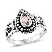 Artisan Crafted Marropino Morganite Sterling Silver Ring (Size 5.0) TGW 0.58 cts.