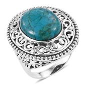 Artisan Crafted Table Mountain Shadowkite Sterling Silver Ring (Size 10.0) TGW 16.80 cts.