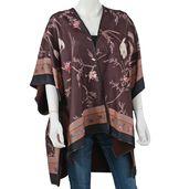 Red 95% Viscose and 5% Spandex Scoop neckline Kimono (35.44x29.53 in)