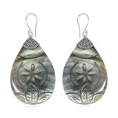 Bali Legacy Collection Gray Shell Sterling Silver Earrings