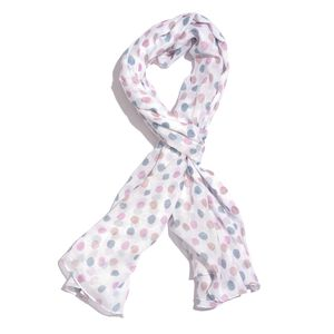 Gray and Maroon Dots Printed 100% Cotton Scarf (40x72 in)