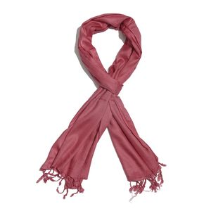 Berry 100% Modal Matty Weave Scarf with Fringes (28x72 in)
