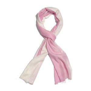 Pink Ombre 100% Merino Wool Scarf (84x28 in)