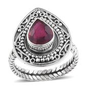 Artisan Crafted Niassa Ruby (FF) Sterling Silver Ring (Size 9.0) TGW 3.14 cts.