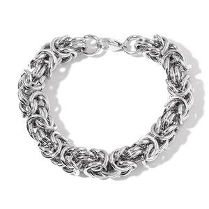 Doorbuster Stainless Steel Byzantine Chain Bracelet (8.50 In)