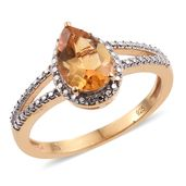 Brazilian Citrine 14K YG Over Sterling Silver Ring (Size 6.0) TGW 1.85 cts.