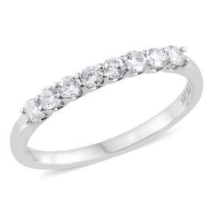 ILIANA 18K WG Diamond (F SI1) 8 Stone Band Ring (Size 6.0) TDiaWt 0.50 cts, TGW 0.50 cts.