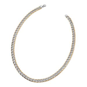 ION Plated YG and Stainless Steel Necklace (24 in)