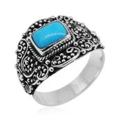 Bali Legacy Collection Arizona Sleeping Beauty Turquoise Sterling Silver Ring (Size 10.0) TGW 1.50 cts.