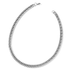 Stainless Steel Double-Link Curb Necklace (24 in)