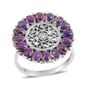 Santa Fe Style Mojave Purple Turquoise Sterling Silver Ring (Size 6.0) TGW 2.10 cts.