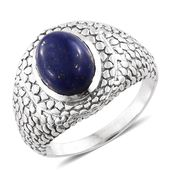 Lapis Lazuli Sterling Silver Men's Ring (Size 13.0) TGW 6.45 cts.
