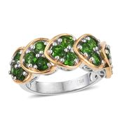 Russian Diopside 14K YG and Platinum Over Sterling Silver Ring (Size 5.0) TGW 2.85 cts.