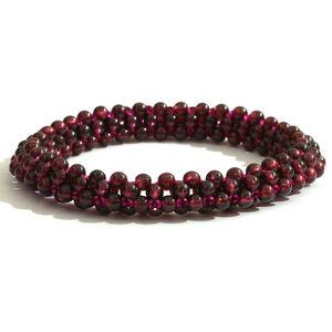 Orissa Rhodolite Garnet Beads Bracelet (Stretchable) TGW 90.00 cts.