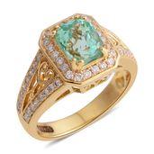 ILIANA 18K YG Boyaca Colombian Emerald, Diamond Ring (Size 6.0) TDiaWt 0.40 cts, TGW 1.84 cts.