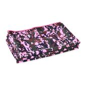 ICE TOWEL- Set of 3 Pink Camouflage Print 80% Polyester and 20% Nylon Reusable Environment Friendly and Energy-Efficient (90x30 cm)