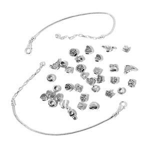 Gem Workshop Silvertone Set of Findings and Bracelet (7.5 in)