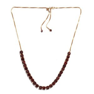 Mozambique Garnet 14K YG Over Sterling Silver Magic Ball Necklace (20 in) TGW 25.56 cts.