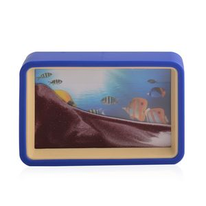Home Décor Underwater World Pattern Sand Picture with Mirror (6.4x4.4 in)