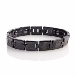 Hematite ION Plated Black Tungsten Carbide Bracelet (7.75 In) TGW 65.00 cts.