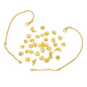 Gem Workshop Goldtone Set of Findings and Bracelet (7.5 in)