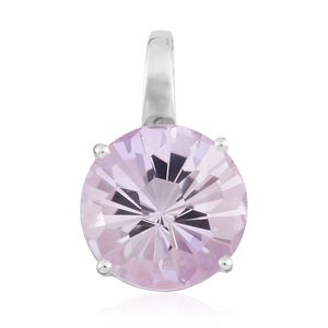 Rose De France Amethyst Sterling Silver Pendant without Chain TGW 4.85 cts.