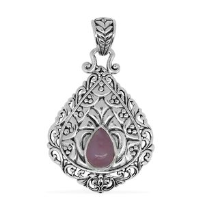 Bali Legacy Collection Peruvian Pink Opal Sterling Silver Pendant without Chain TGW 0.95 cts.