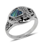 Bali Legacy Collection Abalone Shell Sterling Silver Elephant Ring (Size 7.0)