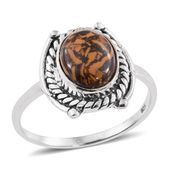 Artisan Crafted Indian Script Stone Sterling Silver Ring (Size 7.0) TGW 2.70 cts.