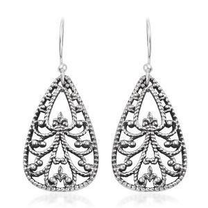 Artisan Crafted Sterling Silver Openwork Earrings (5 g)