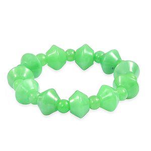 Burmese Green Jade Bracelet (Stretchable) (6.00 In) TGW 288.50 cts.