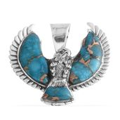Blue Mojave Turquoise Sterling Silver Pendant without Chain TGW 7.500 Cts. TGW 7.50 Cts.