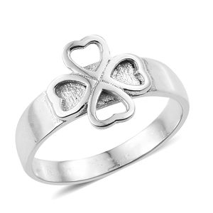 Sterling Silver Clover Ring (Size 7.0)