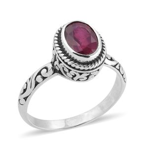 Bali Legacy Collection Niassa Ruby Sterling Silver Solitaire Ring (Size 7.0) TGW 2.61 cts.