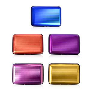 Katie's Host Pick Set of 5 Multi Color Plastic, Aluminium RFID Card Holder (4x2.75 in)