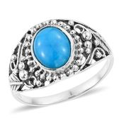 Artisan Crafted Arizona Sleeping Beauty Turquoise Sterling Silver Ring (Size 7.0) TGW 2.38 cts.