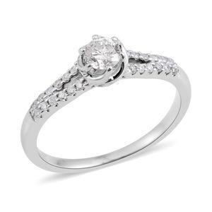 14K WG Diamond (H I1) Ring (Size 8.0) TDiaWt 0.50 cts, TGW 0.50 cts.