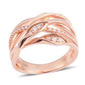 14K RG Diamond Ring (Size 7.0) TDiaWt 0.20 cts, TGW 0.20 cts.