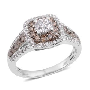 10K WG Diamond, Natural Brown Diamond (H I1) Ring (Size 7.0) TDiaWt 1.00 cts, TGW 1.00 cts.