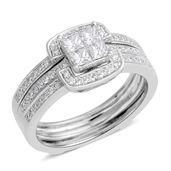 14K WG Diamond (G SI2) Ring Set (Size 7.0) TDiaWt 0.75 cts, TGW 0.75 cts.