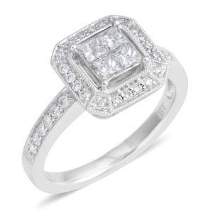14K WG Diamond (H SI2) Ring (Size 7.0) TDiaWt 0.65 cts, TGW 0.65 cts.